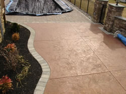 stamped concrete deck