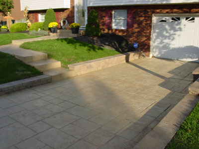 Custom Stamped Concrete Driveways