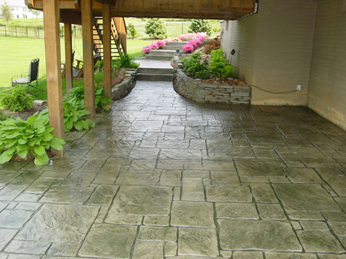 Decorative Concrete Patio. Architectural Stamped ...