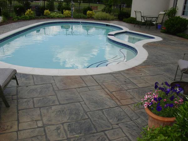Decorative Stamped Concrete Pool Decks Cole Concrete Maryland